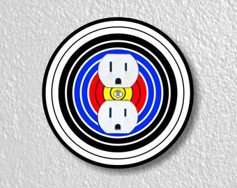 Archery Target Round Duplex Outlet Plate Cover