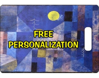 Paul Klee Moonlight Painting Personalized Rectangle Luggage Tote Bag Tag