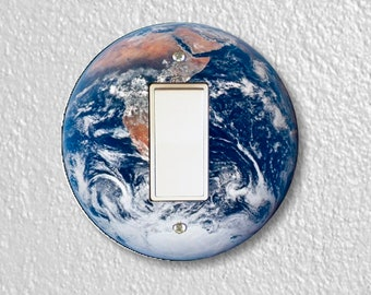Planet Earth From Space Round Decora Rocker Switch Plate Cover