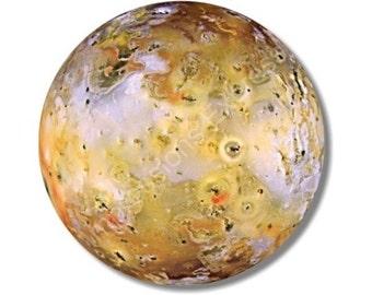Jupiter Moon Io Space Round Mousepad