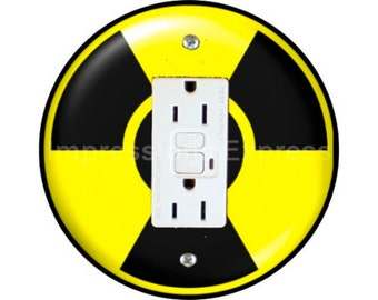 Radioactive Sign GFI Outlet Plate Cover