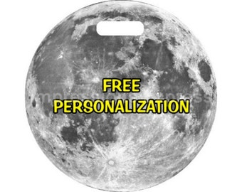 Moon Space Personalized Luggage Tote Bag Tag