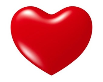 Valentine Heart Shaped Red Heart Mousepad