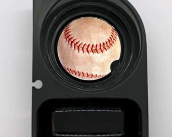 Baseball Ball Sport Round Sandstone Car Cupholder Coaster