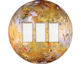 Jupiter Moon Io Space Triple Decora Rocker Switch Plate Cover