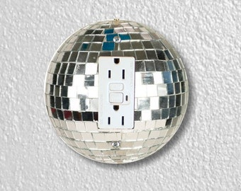 Disco Ball Round GFI Grounded Outlet Plate Cover