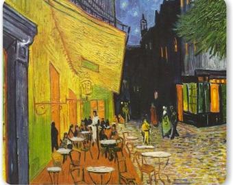 Café Terrace at Night Van Gogh Painting Mousepad