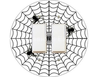 Spider Web Decora Double Rocker Switch Plate Cover