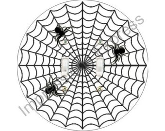 Spider Web Double Toggle Light Switch Plate Cover
