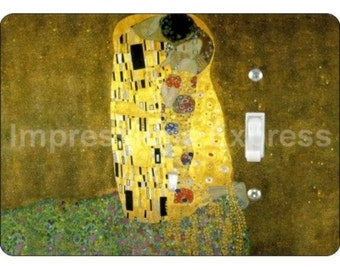 Klimt The Kiss Painting Single Toggle Light Switch Plate Cover