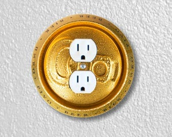 Beer Can Round Duplex Outlet Plate Cover