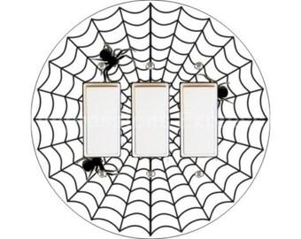 Spider Web Triple Decora Rocker Switch Plate Cover
