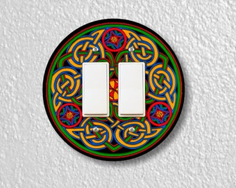 Celtic Knot Round Double Decora Rocker Switch Plate Cover