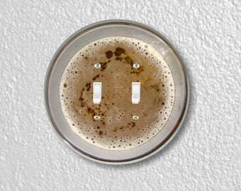 Beer Glass Round Double Toggle Switch Plate Cover
