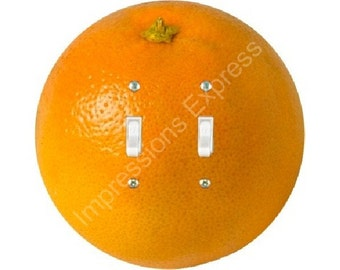 Orange Fruit Double Toggle Switch Plate Cover