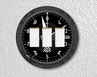 Altimeter Aviation Triple Decora Rocker Round Light Switch Plate Cover