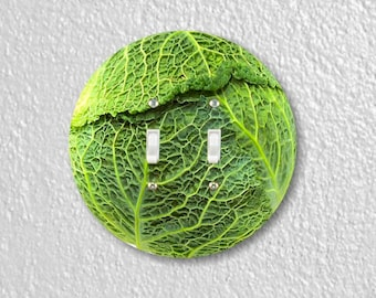 Cabbage Round Double Toggle Switch Plate Cover