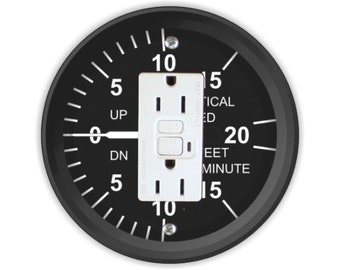 Vertical Speed Indicator Grounded GFI Outlet Plate Cover