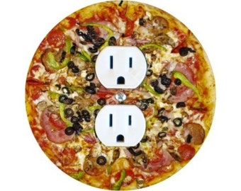 Supreme Pizza Duplex Outlet Plate Cover