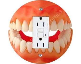 Teeth Grounded GFI Outlet Plate Cover