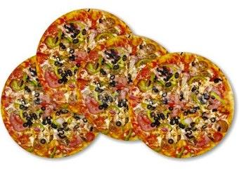 Supreme Pizza Coasters - Set of 4