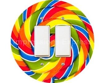 Giant Lollipop Decora Double Rocker Switch Plate Cover