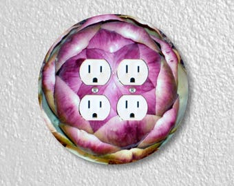 Artichoke Double Duplex Round Outlet Plate Cover