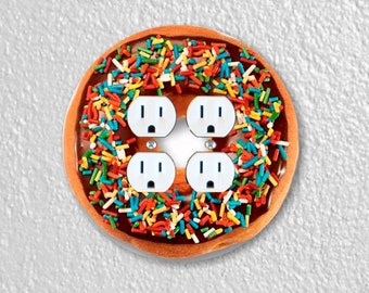 Doughnut Round Double Duplex Outlet Plate Cover