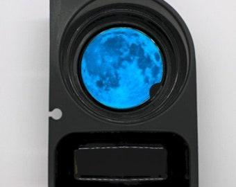 Blue Moon Round Sandstone Car Cupholder Coaster