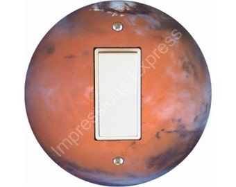 Red Planet Mars Space Decora Rocker Switch Plate Cover