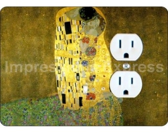 Klimt The Kiss Painting Duplex Outlet Plate Cover