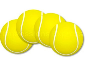 Tennis Ball Coasters - Set of 4