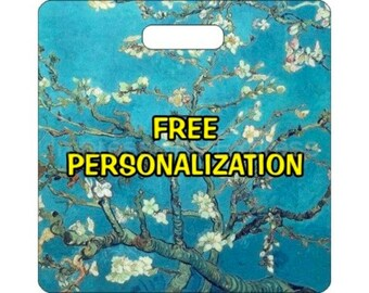 Vincent Van Gogh Almond Branches Painting Personalized Square Luggage Bag Tag