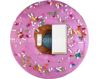 Pink Doughnut Toggle and Decora Rocker Switch Plate Cover