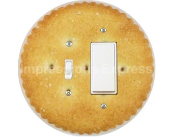 Round Cracker Toggle and Decora Rocker Switch Plate Cover