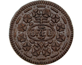 Chocolate Sandwich Cookie Round Mousepad