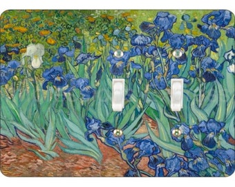 Van Gogh Irises Painting Double Toggle Light Switch Plate Cover