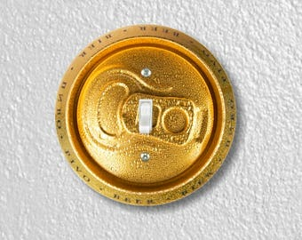 Beer Can Round Single Toggle Switch Plate Cover