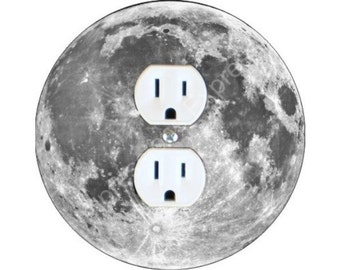 Moon from Space Duplex Outlet Plate Cover