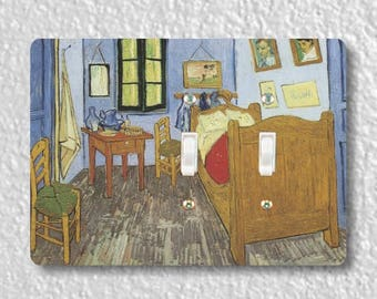 The Bedroom Van Gogh Painting Double Toggle Light Switch Plate Cover