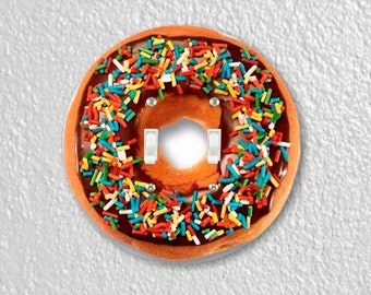 Doughnut Round Double Toggle Light Switch Plate Cover