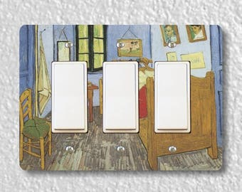 The Bedroom Van Gogh Painting Triple Decora Rocker Light Switch Plate Cover