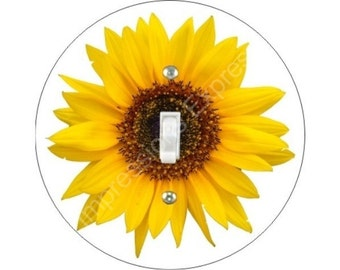 Sunflower Flower Single Toggle Switch Plate Cover