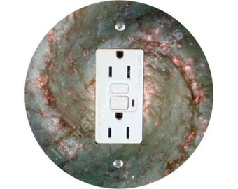 Whirlpool Galaxy Space Grounded GFI Outlet Plate Cover