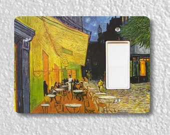 Café Terrace at Night Van Gogh Painting Decora Rocker Light Switch Plate Cover