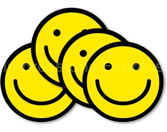 Smiley Face Coasters - Set of 4