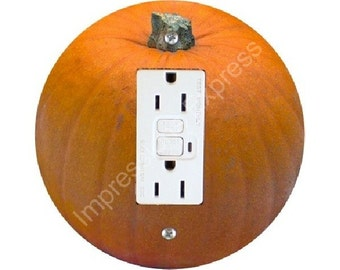 Pumpkin GFI Outlet Plate Cover