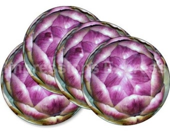 Limited Time Sale! Artichoke Round Coasters - Set of 4