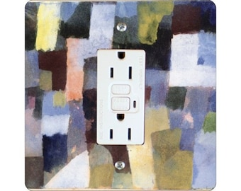 Paul Klee Painting Square GFI Outlet Plate Cover