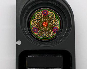 Celtic Knot Round Sandstone Car Cupholder Coaster